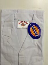 Dickies redhawk warehouse/lab/food/Butcher white coat WD201
