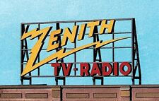 Blair Line O Or HO Scale Laser Cut Wooden Zenith TV & Radio Billboard Sign 2527