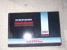 1997 GMC Safari Cargo Passenger Van Auto Owner Manual Controls Audio Driving  R