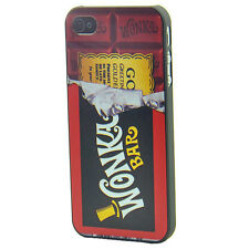 Funny Willy Wonka Chocolate Golden Ticket For iPhone 4 4S Cover Case Hard
