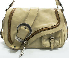 Christian Dior Gaucho Single Saddle Shoulder bag Schultertasche Tasche Off-White