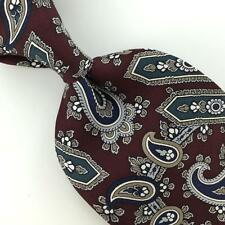 STAFFORD US MADE PAISLEYS MAROON Silk Men Necktie H3-332 Excellent Ties