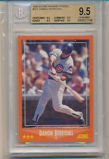 1988 Score Rookie & Traded Damon Berryhill (RC) (#82T) (All 9.5 Subs) BGS9.5 BGS