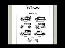 WHIPPET WILLYS-OVERLAND 96 PARTS & TECH MANUAL 160 pgs
