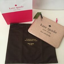 NWT KATE SPADE HOLIDAY DRIVE SPARKLING CLUTCH RG + KS Paper Bag/dust Bag