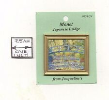 "Painting ""Japanese Bridge"" Monet  dollhouse miniature 1/12 scale 9774 frame"