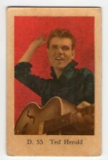 1950s Swedish Film Star Card D Set #55 German Schlager singer Actor Ted Herold