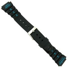 18mm Timex Ironman Triathlon Black and Green Rubber Sport Watch Band Strap