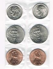 2013 P&D LINCOLN PENNY, JEFFERSON NICKEL, & ROOSEVELT DIME SETS FROM UNC. ROLLS