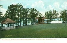 Newburgh, NH 1908 at Orange Lake, the Band Stand, Boat House & Amusement Ground