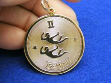 $28 Nordstrom GEMINI Horoscope Sign Zodiac Pendant Medallion Goldtone NO CHAIN