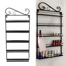 5 Tier Nail Polish Rack Varnish Metal Display Stand Wall Mounted Holder Black