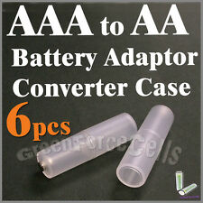 6 pcs Battery Converter Adaptor Case Holder Switcher For AAA to AA Size Cell 2A