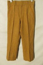 F2002 Woolrich Wool Brown/Red Plaid 60's Leather Accents 1409 Pants Men's 31x28
