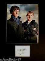 SHERLOCK signed autograph PHOTO DISPLAY Benedict Cumberbatch Martin Freeman