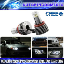 2x BMW 30W CREE LED Angel Eye Halo Light H8 Bulb E90 E92 E60 E84 E70 X5 E71 X6 M