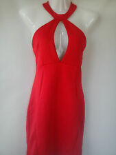 STUNNING NEW RED MISSGUIDED FASHION PARTY LADIES BACKLESS DRESS SIZE 8 (0.3)