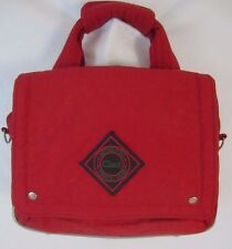 Ciao Authentic Travel Gear Red Hand Held Footed Tote Shopper Shoulder Bag BP4