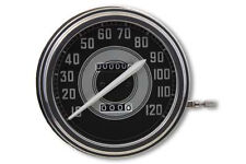 Replica Harley Davidson Knucklehead Speedometer with 2:1 Ratio and White Needle