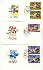 Full Set of Helicopter Stamps on 6 FDC-s, Soviet Union, VF, 1980