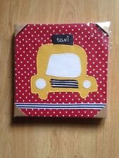 NEW MAMAS AND PAPAS MADE WITH LOVE CAR CANVAS BOYS  RRP £45