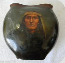 Rookwood vintage art pottery vase Indian portrait - marked  ca 1899 FREE SHIPING