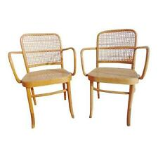 Pair Of Bentwood Armchairs Vintage Cane Chair Michael Thonet Mid Century
