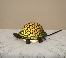 Stained Glass Tiffany Style Turtle Night Light Table Desk Lamp. Cute!
