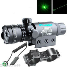 Green laser sight outside adjust For rifle gun scope w/ remote switch 2 mounts *