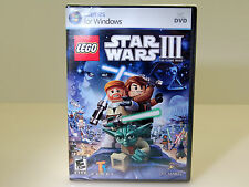 (NEW) LEGO Star Wars III: The Clone Wars (PC, 2011) PC GAME