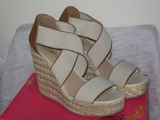 "Candie's 5"" Heel Wedge Pump Open Toe Brown Shoes Womans Size 9½M NIB #SH31"