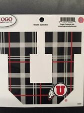University of Utah - Block U - Red and Black Plaid - Exterior Decal - Medium