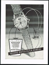 1950s Original Vintage 1951Record Watch Co. Datofix Wrist Watch Art Print AD