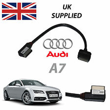 AUDI A7 2011-2014 amm MMI 4f0051510r IPHONE IPOD AUDIO e VIDEO VIA CAVO (ROSSO)