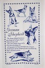 German Shepherd Alsatian T-Towel Tea Towel Dog Lover Gift