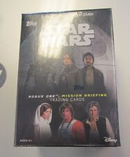 2016 Topps Star Wars Rogue One Mission Briefing Blaster box 10 packs 1 patch