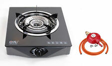 Gas Stove Double Ring Burner Glass Portable Camp Indoor Caravan 4.2kW LPG NGBS1