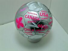 FIFA 2014 Brazil world cup Silver Pink White soccer ball size 3 sz international