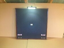"NEW! LED Lighted 32""x32"" Black/Brown Dart Board Cabinet Backboard Wall Protector"