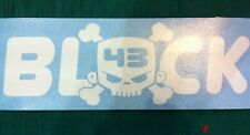 Block 43 New skull Hoonigan 200mm Sticker White Decal DC Shoes VW JDM
