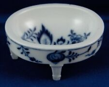 Antique Meissen Porcelain Blue Onion Open Salt Trencher Porzellan Salznapf
