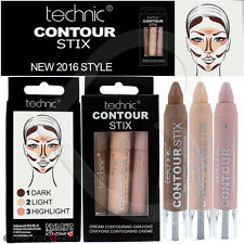Technic Contour Stix Cream Contouring Kit Sticks Crayons Set Bronzer Highlighter