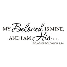 Bible Verse Wall Sticker My Beloved Solomon Saying Vinyl Removable Mural Decor