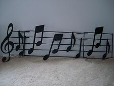 *METAL DECOR* Large Metal Music Notes Home Wall Art Plaque Bar Clef Sculpture