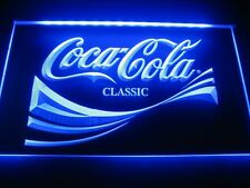 Cola Coke Classic Logo Beer Bar Pub Store Light Sign LED W2101