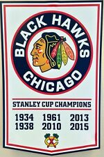 Chicago BLACKHAWKS  Stanley Cup Champions Banner White  Fridge Magnet 2.5 x 3.5