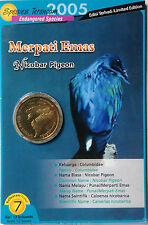 Malaysia Coin Card - Endangered Birds Series No. 7 Nicobar Pigeon