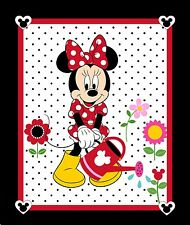 DISNEY MINNIE MOUSE PANEL BLACK FABRIC MATERIAL, From Springs Creative Product