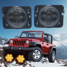 2x 8 LED Front Fender Parking Side Marker Turn Signal Light For Jeep Wrangler JK