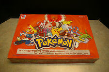 2005 'POKEMON MASTER TRAINER' BOARD GAME MILTON BRADLEY - COUNTED AND COMPLETE
